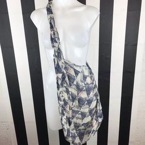 5 for $25 Free People Blue Triangle Print Hobo Bag